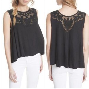 Free People Lace Swing Tank
